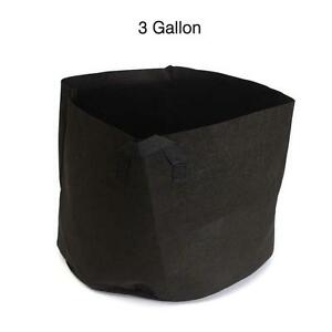 Soft-side-Fabric-Garden-Plant-Pouch-Root-Container-Grow-Aeration-Pot-3-Gallon-HC