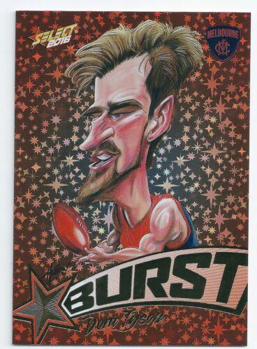 2016 Select Footy Stars Starburst Caricature SB42 Dom TYSON Melbourne