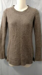 Cynthia-Rowley-100-2-Ply-Cashmere-Womens-Sweater-Size-S-Gray-Round-Neck-Soft