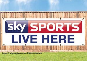 Advertising Pubs Sky Sports BT Sport LIVE FOOTBALL Vinyl Banner Bars Social