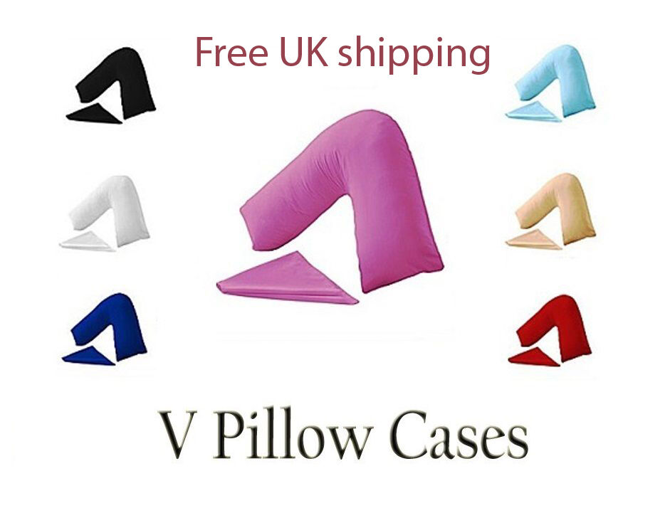 PREGNANCY NURSING MATERNITY ORTHOPEDIC V SHAPED PILLOW WITH FREE COVER