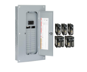 Square-D-24-Space-100-Amp-Main-Breaker-Electrical-Service-Load-Center-Box-Indoor