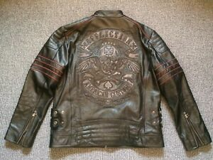 AFFLICTION Lederjacke 3XL NEU Limited Edition USA Harley ...