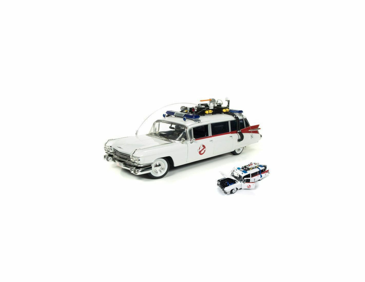 Auto World AWSS118 CADILLAC GHOSTBUSTERS ECTO-1 WITH GHOST SLIMER 1959 cm 30 1:2