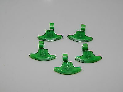 Lego Minifigure Weapon Lot Of 5 Lord Of The Rings Trans Green Axe Head W25