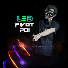 GloFX LED Pivot Poi: 9-Mode Color-Changing Spin Rave Toy Heavy-Duty Nylon Leash