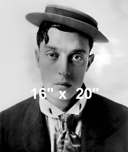 Buster Keaton~w  Porkpie Hat~Silent Film Comedian~Photo~ 16