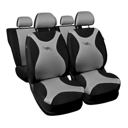 Universal Autositzbezüge für Nissan Juke Silber Sitzbezüge Schonbezüge PKW Turbo