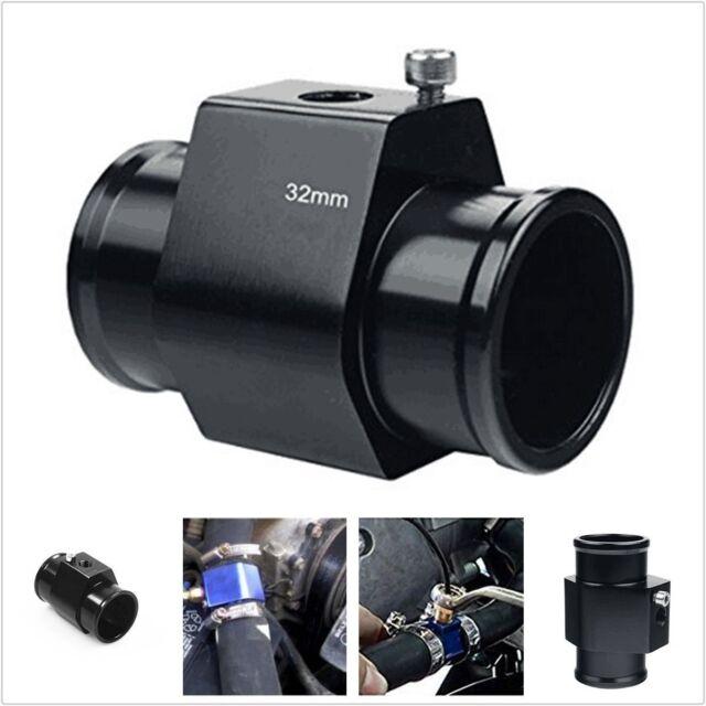 Car Black 32MM Water Temp Temperature Gauge Joint Pipe Sensor Radiator Adaptor
