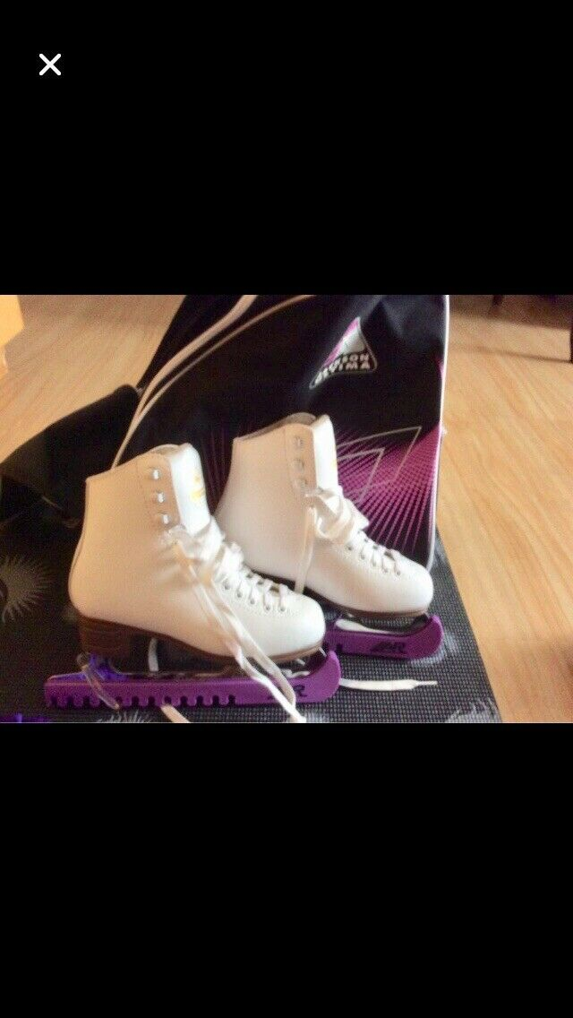 Jackson Excel with Mark II ultimate blade Girls ICE Skating schuhe Größe 3