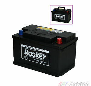 Autobatterie PKW - ROCKET-  12V  80AH  - BAT 080 RKT Passt für AUDI