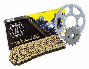 Triple-S-525-O-Ring-Chain-and-Sprocket-Kit-Gold-BMW-F650-GS-2009-10
