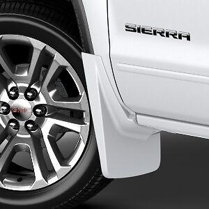 2014-2018 GMC Sierra Front /& Rear Molded Splash Guards Summit White OEM GM
