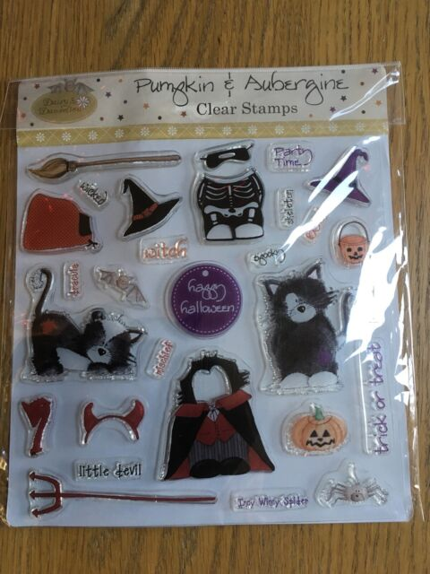 Trick or Treat Halloween Rubber Stamp