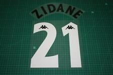 Juventus 97/98 #21 ZIDANE Homekit Nameset Printing