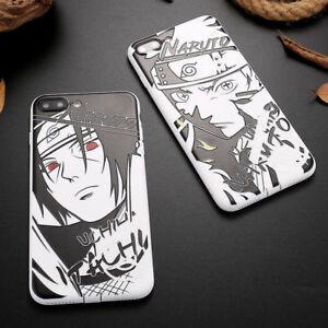 Details About Cool Black White Naruto Sasuke Kakashi Soft Phone Case For Iphone X 6s 7 8 Plus