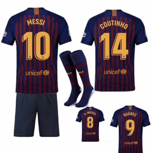 53b3ade8b34 4 of 5 HOT UK 18 19 Football Jersey Soccer Kits Short Shirt 3-14Years Kid  Boys