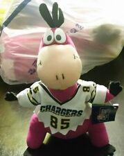 Flintstones Play By Play Dino Plush San Diego charger NFL Hana-Barbera NWT Vinta