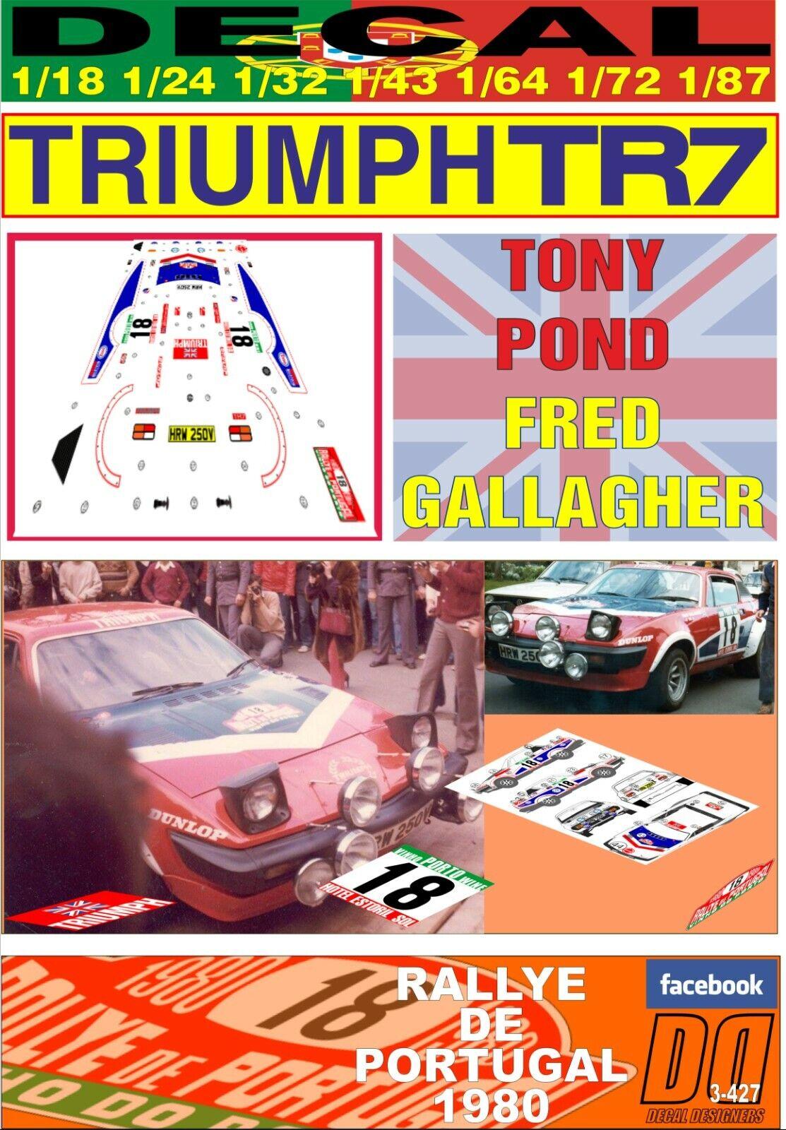 DECAL TRIUMPH TR7 V8 TONY POND RALLYE PORTUGAL 1980 DnF (FULL) (05)