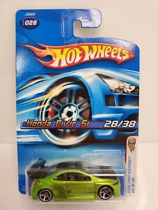 Rare-Hot-Wheels-Honda-Civic-Si-SEMA-Show-2006-First-Editions-Green-2006