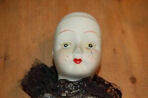 Muneca-Antigua-034-Pierrot-034-De-Funda-Y-Porcelana-Vintage-55-CM-C-De