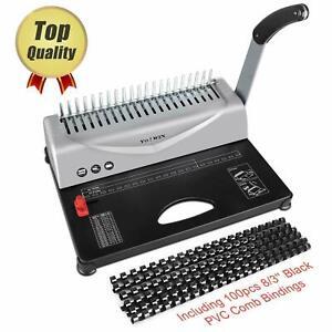 Binding-Machine-21-Hole-450-Sheet-Paper-Punch-Binder-with-Starter-Kit-100-PCS