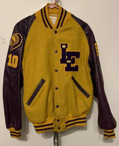 VTG  1950's Mens Letterman Jacket  Varsity Coat Wo