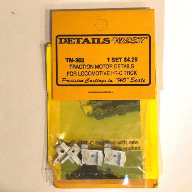 Traction Motor Details for Locomotive HT-C Trucks HO ... Details West TM-362