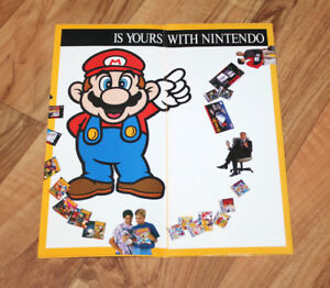 Details about 1991 SNES NES Super Game Boy Flyer Poster Mario Bros  3 DR x  Balloon Kid Golf