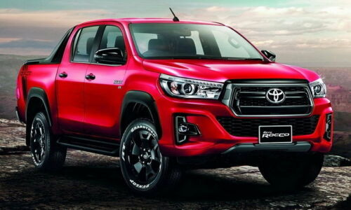 Front Grille Matte Black with Alphabet Red Fit For Toyota Hilux Revo Rocco 2018