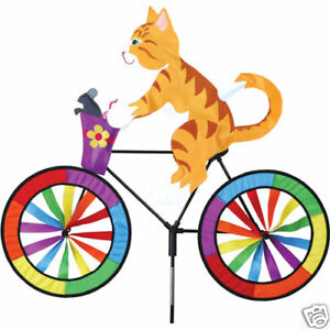Kitty-Cat-on-a-Bicycle-Staked-Wind-Spinner-with-Pole-amp-Ground-Mount-PR-26705
