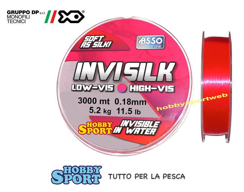 FILO ASSO INVISILK  MIS 0,18  PINK - BOBINA  3000 MT  X MULINELLO TredA LAGO