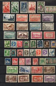 Algerie-avant-independance-45-timbres-dont-poste-aerienne