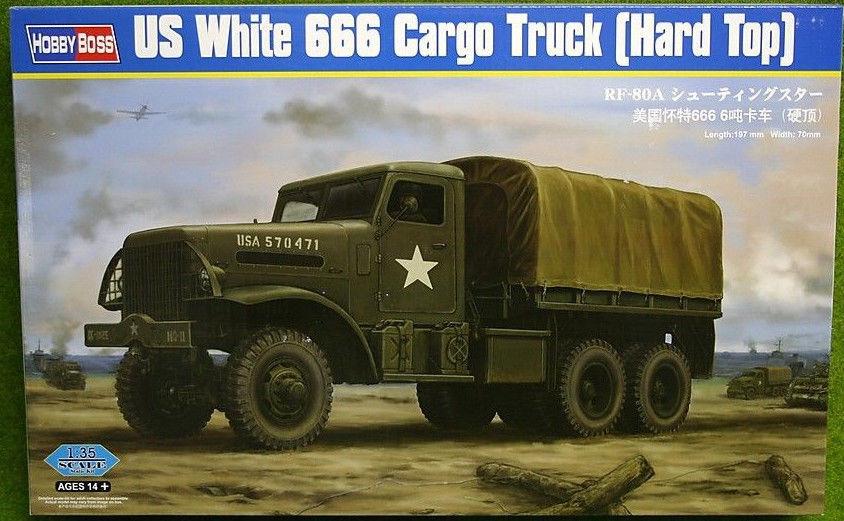 Hobbyboss 83801 1 35th scale US White 666 Cargo (Hard Top)