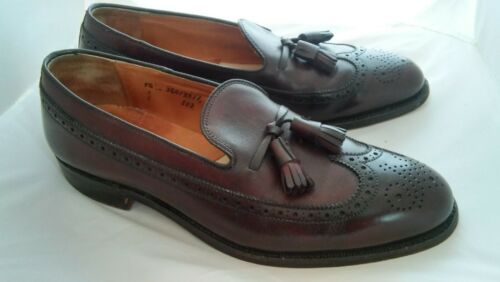 Vtg Alden Long Wingtip with Tassels Leather Loafer