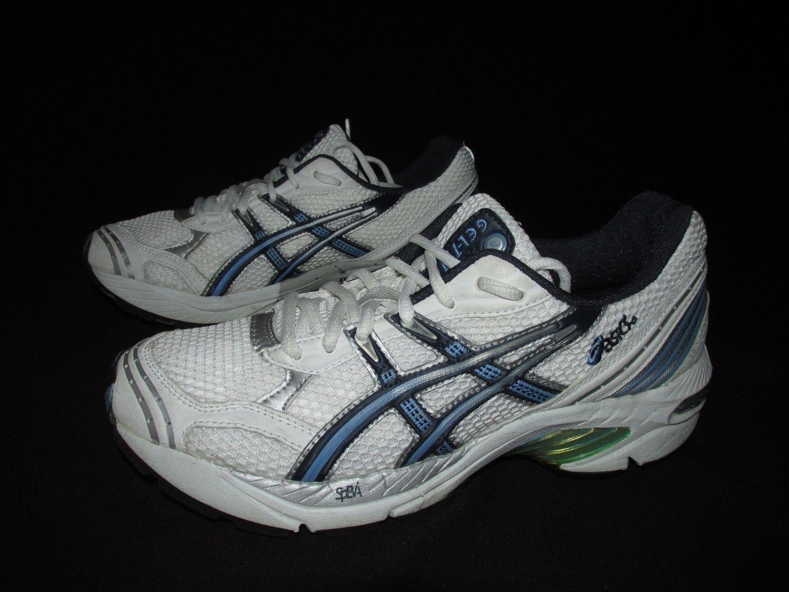 ASCIS Duomax Gel1110  blanc  bleu Synthetic Mesh Running Training  Chaussures  femmes  8M