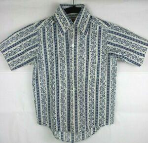 Sears Perma Prest Vintage Tout-petits Chemise Garçon Taille 8 êTre Hautement Loué Et AppréCié Par Le Public Consommateur