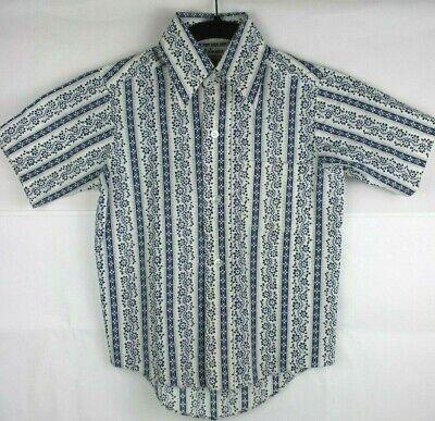Di Larghe Vedute Sears Perma Prest Vintage Bambini Camicia Bambini Taglia 8