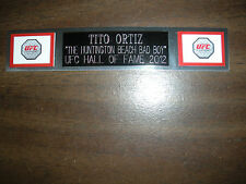 TITO ORTIZ (UFC) NAMEPLATE FOR SIGNED TRUNKS DISPLAY/PHOTO/PLAQUE
