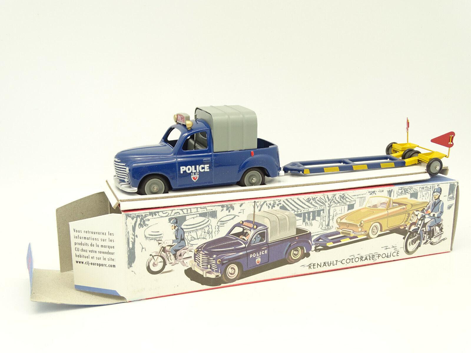Igh By Norev 1 43 - Renault Farbeeado + Remolque Libra Police (Policía)