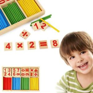Wooden-Math-Counting-Blocks-Sticks-Educational-Learning-Number-Abacus-Kids-Toys