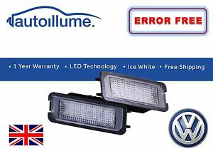 VW-Golf-GTI-R-Mk7-Mk6-Mk5-Canbus-Compatible-LED-Licence-Number-Plate-Lights