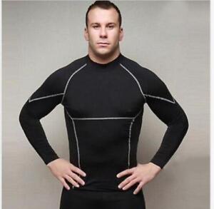 Sports Men/'s Tight Legging Running Trainer Long Sleeve Shirts Tops Gym Fashion/&/&