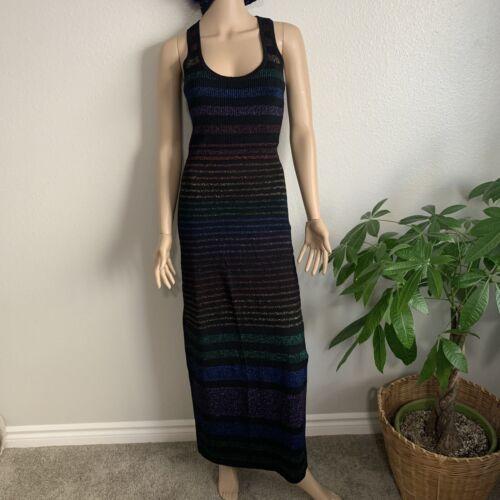 Trina Turk Metallic Rainbow Striped Stretch Knit T