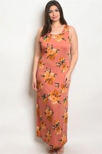 Details about NWT Women's 2X Plus Size Maxi Dress Mauve Floral BOUTIQUE
