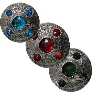 Celtic-Fly-Plaid-5-Stones-Brooch-Kilt-Fly-Plaid-Brooch-Sash-Brooch-Pin-amp-Brooch