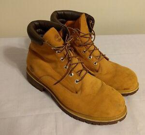 Timberland Basic Nubuck Size 14 Original Men s Boots Wheat Brown ... ba81fab948ea