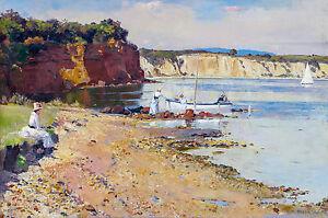 Tom-Roberts-Slumbering-Sea-Mentone-1887-Fade-Resistant-HD-Art-Print-or-Canvas