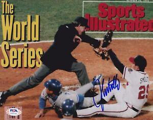 JOHN SMOLTZ Signed Autograph Auto 8x10 Picture Photo Atlanta Braves SI Cover PSA
