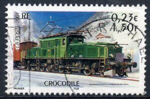 Agressif Stamp / Timbre France Oblitere N° 3407 Chemin De Fer / Train / Crocodile Promouvoir La Santé Et GuéRir Les Maladies